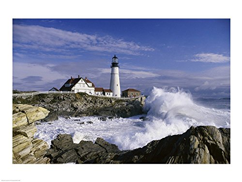 Portland Head Lighthouse Cape Elizabeth Maine USA Art Print, 37 x 28 - Lighthouse Cape Elizabeth
