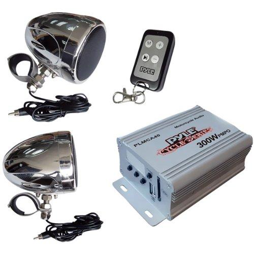 Pyle - 300-Watt Motorcycle/ATV/Snowmobile Mount MP3/IPod/USB Amplifier