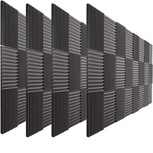 96 Pack of FoamEngineering Acoustic Panels Studio Soundproofing Foam Wedge tiles 1