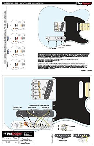 toneshaper Gitarre Verkabelung Kit, für Fender Telecaster, SS3 (4 ...
