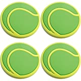 Four (4) of Tennis Ball Rubber Charms for