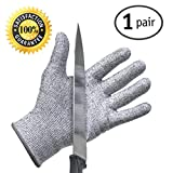 Cut Resistant Gloves - Best Food Grade Kitchen Level 5 Cut Protection - Lightweight, Breathable, and Extra Comfortable (1 Pair Medium) offers
