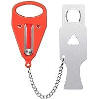 Portable Door Lock, Inside Door Travel Lock, Lockdown Door Security for Home, Apartment, Living Motel, Hotel, Home Door Locks- Provide with Additional Protection