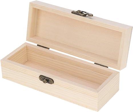 Baoblaze Caja de madera con tapa y cierre – Haz tu propio regalo ...
