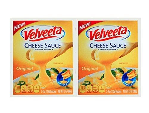 Kraft Velveeta Original Cheese Sauce, 4 Oz. Per Pouch - 2 Pouches (Cheese Sauce For Broccoli With Cheese Whiz)