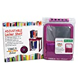 Tools for School Back to School Combo. Adjustable Locker Shelf and Magnetic Locker Mirror. Magenta