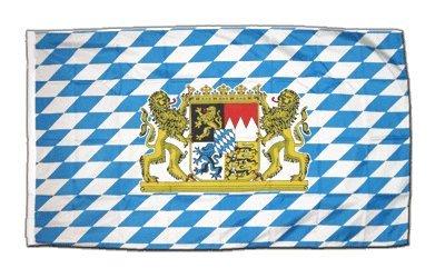 Fahne Flagge Deutschland Bayern mit Löwe 30 x45 cm