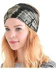 Casualbox Wide Headband Bandana Womens Mens Hand Dyed Tie Dye Japanese Hair Band Accessory