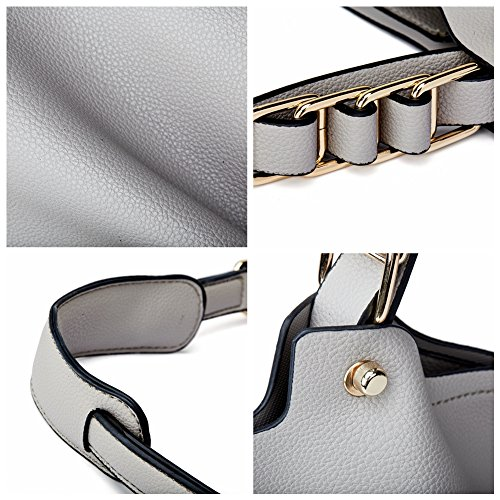Soft Hobo Cowhide Totes Shoulder Handbags Women Genuine Supple Satchels Leather Bags Grey wCXqxAzxt