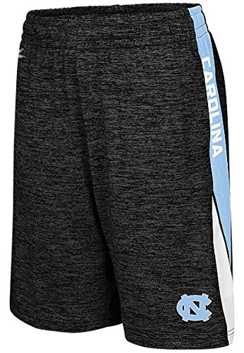 Colosseum Youth UNC Tarheels Heather Black The Jet Polyester Shorts (M=10-12) ()
