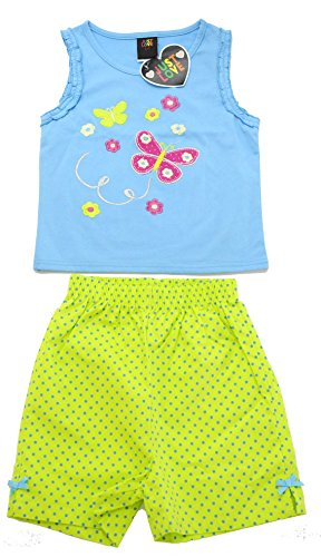 4002-2T Just Love Two Piece Girls Shorts - Designer Sibling
