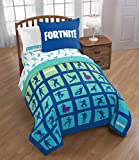Jay Franco and Sons Based on Fortnite Boogie Down Emote Twin / Full Comforter Set with Pillow Sham and Twin Sheet Set Kids Bedding 5 Pieces