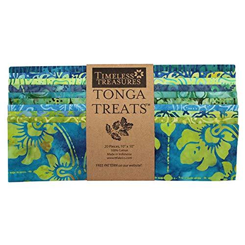 Timeless Treasures Tonga Batiks Grasshopper Shortcake 20 Ten Inch ()