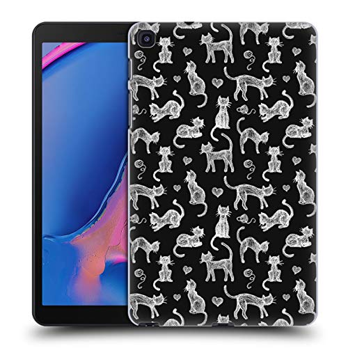 Official Micklyn Le Feuvre Teachers Pet Chalkboard Cats Animals Hard Back Case Compatible for Galaxy Tab A 8.0 & S Pen 2019