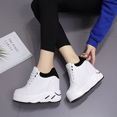 scarpe tempo l'aumento spesse corrisponde sport high shoes Da Sandali libero di tutto Moda centimetri heeled primavera spessore uno Alla Donna Ajunr black dodici vXzqwz