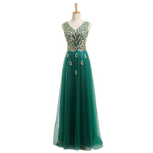 YIPEISHA Evening Dresses V-nec...