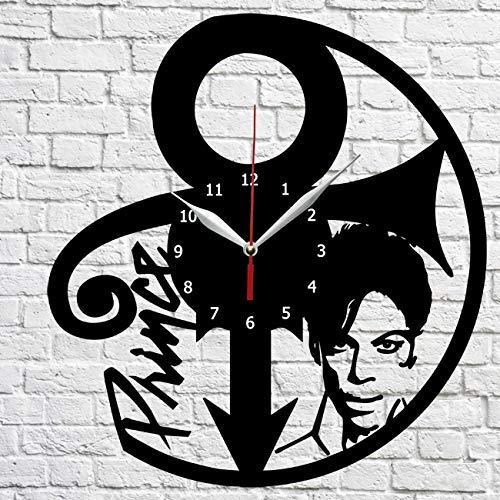 Prince Vinyl Record Wall Clock Decor Home Original Gift Unique Design Handmade decor