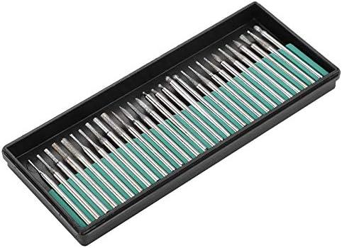 Schleifköpfe, Samfox 3mm Schaft Schleifköpfe Punkte Carving Polieren Präzisionswerkzeuge für Schleifbohrer 30St