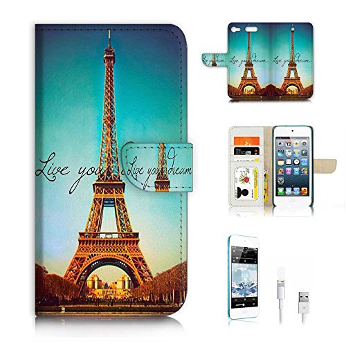 Flip Wallet Case Cover & Screen Protector & Charging Cable