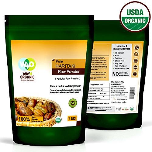 Haritaki Powder 16 Ounces (1 Pound) - USDA Certified Organic - Way4Organic