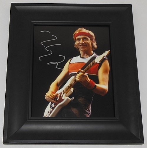 Dire Straits Mark Knopfler Sultans of Swing Hand Signed Autographed 8x10 Glossy Photo Gallery Framed Loa