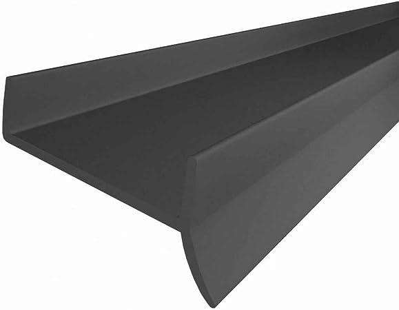 STEIGNER Joint de cuisine LU 16 mm 17 mm 1,5 m Gris Bavette de plinthe de meuble de cuisine
