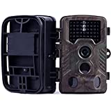Hunting Trail Camera,16MP Image 1080P Video, 46Pcs IR LEDs Night Vision, 0.2S Motion Activated Wildlife Camera with 120°Wide Angle, 2.4''HD LCD Screen, IP66 Waterproof for Wildlife Hunting Shooting