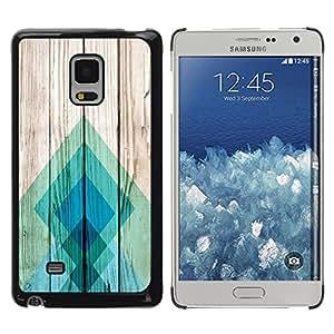 Paccase / SLIM PC / Aliminium Casa Carcasa Funda Case Cover para - Teal Pattern Square - Samsung Galaxy Mega 5.8 9150 9152