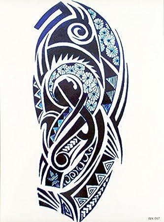 Hombres Tribal Tattoo Azul Oscuro wx097 brazo tatuaje pegatinas ...