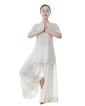 Yoga para la Mujer Llevar Traje Traje de Deportes al Aire Libre Trajes  Blancos 8f7b8ac58440