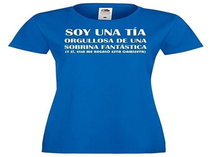 Camisetas divertidas Parent Soy Una Tia Orgullosa de Una Sobrina Fantastica, y Si, Ella Me Regalo Esta Camiseta - Para Mujer Camiseta: Amazon.es: Ropa y ...