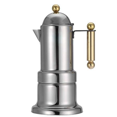 Olla de café exprés Moka, cafetera de café espresso de acero ...