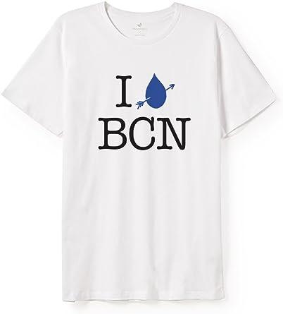 TWOTHIRDS Camiseta Hombre - 100% algodón orgánico - I Love BCN (Medium): Amazon.es: Ropa y accesorios