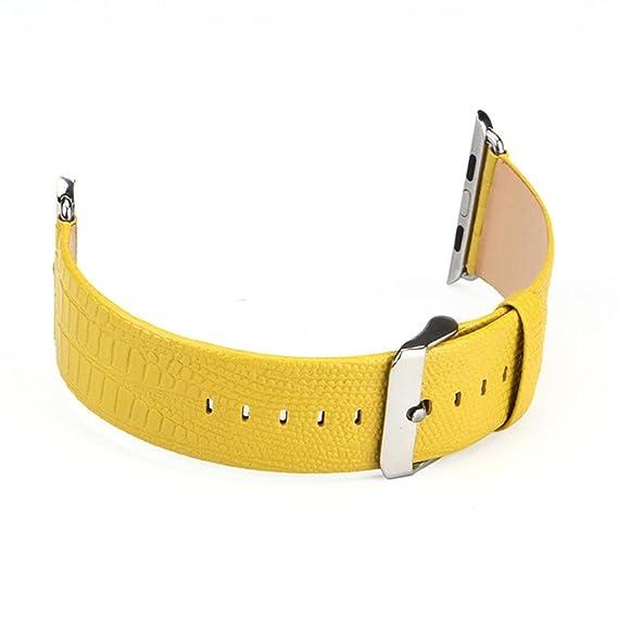 ankola caliente vender único Tour cuero reloj banda muñeca reloj de pulsera correa para Apple reloj serie 1/2: Amazon.es: Relojes