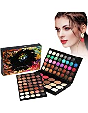 40Colors Eyeshadow + 15Colors Blusher & Concealer Palette Facial Eye Cosmetic Makeup Kit Matte Shimmer Highly Pigmented