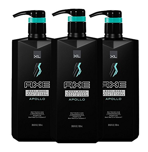 Axe Revitalizing Shower Gel Apollo, 28 Ounce with Pump (Pack of - Wash Axe Body