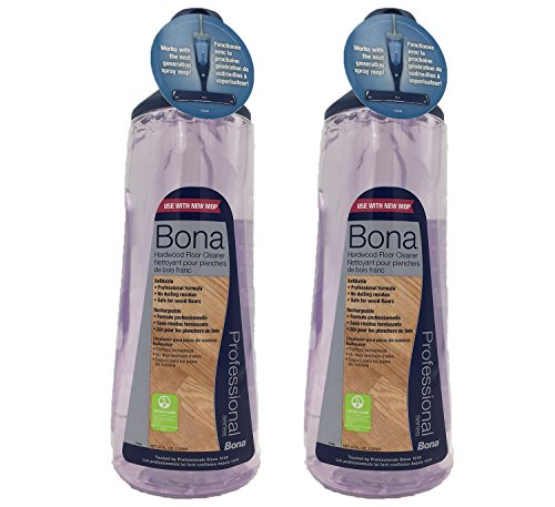 Bona Pro 34 Oz Hardwood Floor Cleaner Refill Cartridge, Premium No-Residue Formula, Ready-to-Use Cartridge For Bona Hardwood Floor Spray Mop, Cleans Dirty, Smudged Wood Floors (Pack of 2)