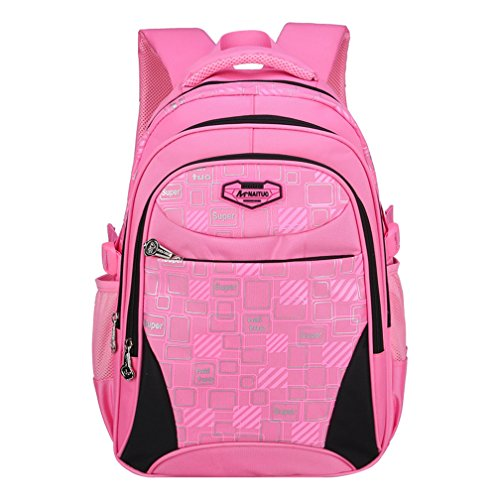 Macbag School Backpack Casual Daypack Travel Outdoor Camouflage Backpack for Boys and Girls (Pink 5)