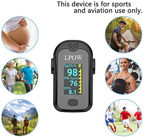 Pulse Oximeter Fingertip, Blood Oxygen Saturation Monitor for Pulse Rate, Heart Rate Monitor and SpO2 Levels with LED Screen Display Batteries and Lanyard Included 51f01sy 2BuaL