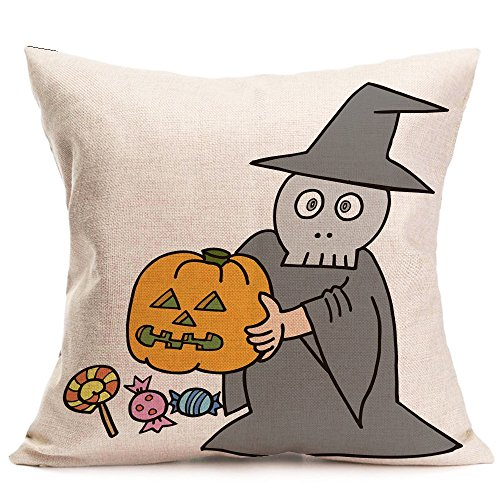 HomeMals Happy Halloween Pattern Office Pillow Pillowcase Sofa Cushion Cover Home Decor