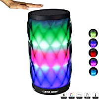 Bluetooth Speakers Wireless LED Touch Control Colorful Night Light Built-in Mic, AUX and Hands Free Speaker for Home and Party/Beach/Picnic/Outdoor Portable Bluetooth Speaker
