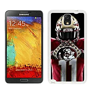Unique Note 3 Case,NCAA Atlantic Coast Conference ACC Footballl Florida State Seminoles 4 White Phone Case For Samsung Galaxy Note 3 Cover Case