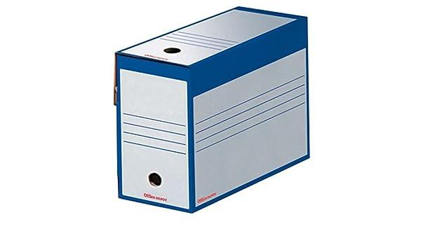 Office Depot - Caja Archivo Definitivo Azul Lomo Ancho Paquete 25 Cajas: Amazon.es: Oficina y papelería