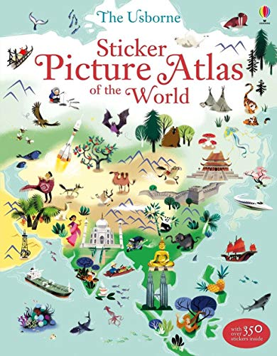Geography Sticker - Sticker Picture Atlas of the World (Sticker Books)
