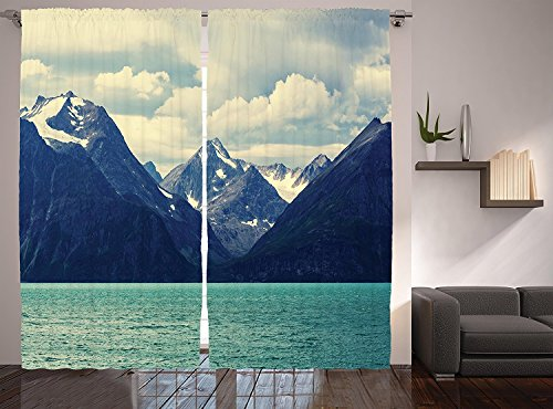 Snowy Nature Decor Collection Northern Norway Mountains and