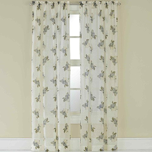 CHF Waterlilly Scroll Curtain Panel, 63