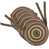 VHC Brands Rustic & Lodge Tabletop & Kitchen - Barrington Brown Jute Chair Pad Set of 6