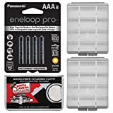 Panasonic eneloop Pro (8) AAA 950mAh Pre-Charged NiMH Rechargeable Batteries with Battery Case + Kit