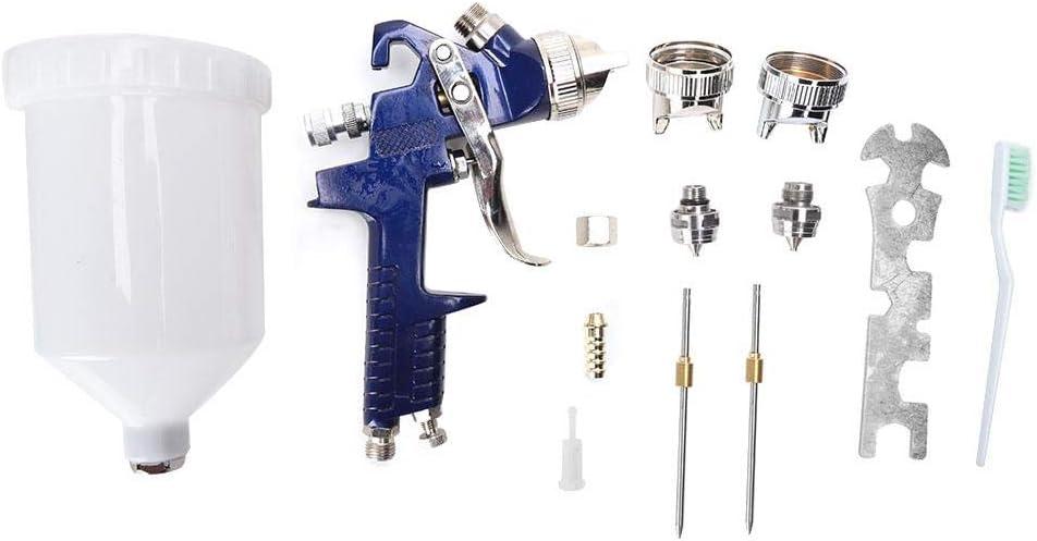para decoraci/ón de muebles de autom/óviles Pistola de pintura Kit de pistola pulverizadora de pintura manual de alta atomizaci/ón H-827 Pistola de pintura automotriz de aleaci/ón de aluminio 600ML