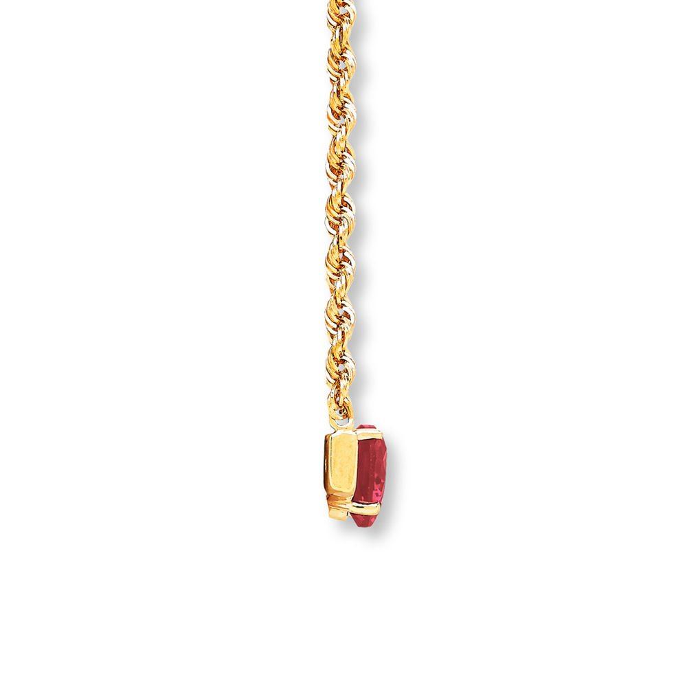 Valentine/'s Day Love Gift Heart Bar Necklace Lab-Created Ruby /& Sapphire 14K Yellow Gold Plated